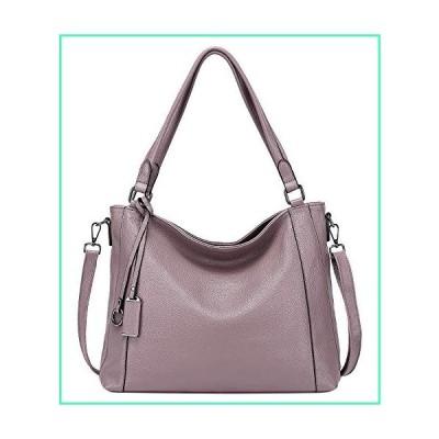 Soft Leather Handbags for Women Shoulder Hobo Bag Large Tote Crossbody Bag By OVER EARTH(O103E Dark Taro)並行輸入品