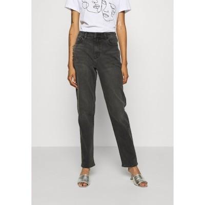 アメリカンイーグル デニムパンツ レディース ボトムス MOM - Slim fit jeans - washed black