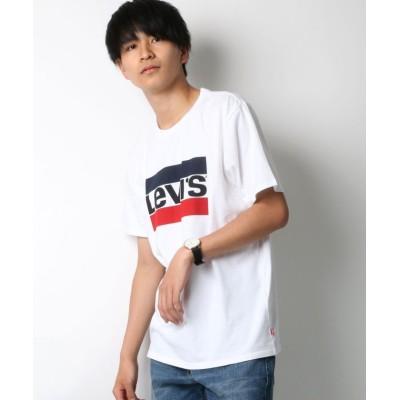 【ラザル】 Leiv's/リーバイス スポーツロゴTシャツ メンズ ホワイト S LAZAR