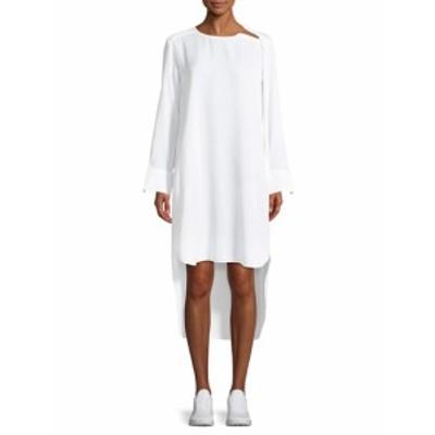 レディース ワンピース High-Low Crewneck Dress