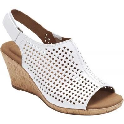 ロックポート Rockport レディース サンダル・ミュール シューズ・靴 Briah Perfed Slingback White Full Grain Leather