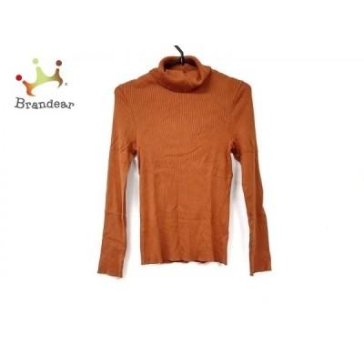 ニジュウサンク 23区 長袖セーター サイズ32 XS レディース 美品 オレンジ タートルネック 新着 20200129