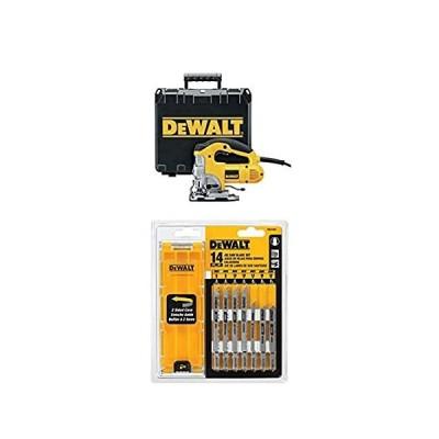 DEWALT DW331K 6.5 Amp Top Handle Jig-Saw with DEWALT DW3742C 14-Piece T-Sha【並行輸入品】