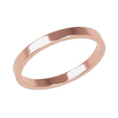 K18PG 鍛造!!平打ち 2mmリング(結婚指輪)★H0211P-2