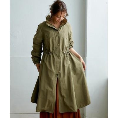 【はっ水】インフードロングテントコート (コート)(レディース)Coat