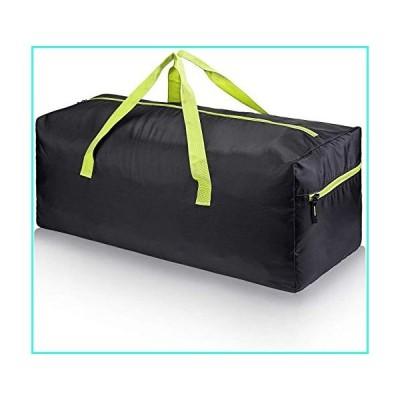 【新品】Spacious Foldable Duffel Bag - Choose Your Size(Green-zippe)(並行輸入品)