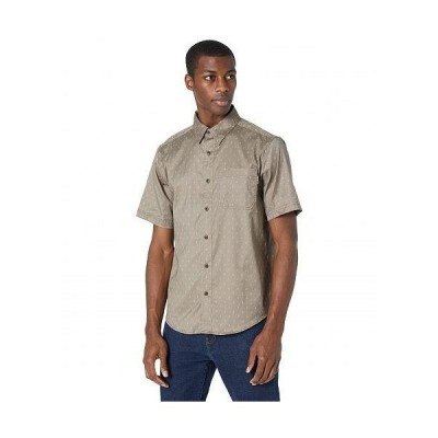 Timberland PRO ティンバーランド メンズ 男性用 ファッション ボタンシャツ Amesbury Short Sleeve Work Shirt - Walnut/Arrow Print