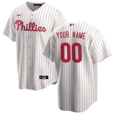ナイキ メンズ Tシャツ トップス Philadelphia Phillies Nike Home Replica Custom Jersey