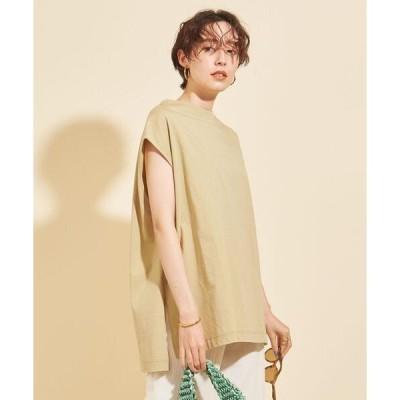 tシャツ Tシャツ 【予約】BY ワイドサイドスリットノースリーブカットソー