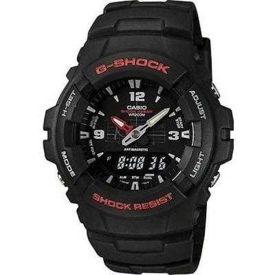 腕時計 カシオ Casio G-Shock アナログ/デジタル ブラック メンズ 腕時計 G100-1BV