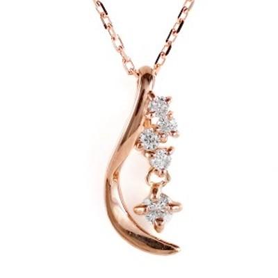 ピンクゴールド 10金 K10 ダイヤモンド ネックレス 金ネックレス カラット 人気 おすすめ プレゼント 揺れル
