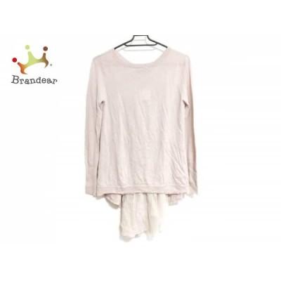 ダーマコレクション DAMAcollection 長袖セーター サイズS レディース ピンク 一部シースルー      値下げ 20201009