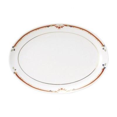 ニューボン紅華妃 10吋プラター 中華食器 プラター 楕円皿 20cm〜30cm 業務用 日本製 磁器 約26.3cm