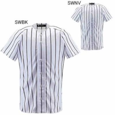 デサント 野球 ユニフォーム シャツ フルオープンシャツ ワイドストライプ  DESCENTE DB-6000