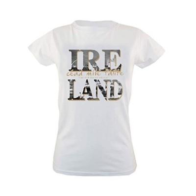 White Ireland Cead Mile Failte R/N Ladies T-Shirt-Xlarge