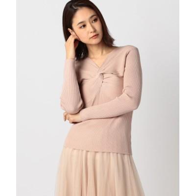 【ミューズ リファインド クローズ】 ねじりニット レディース ベージュ M MEW'S REFINED CLOTHES