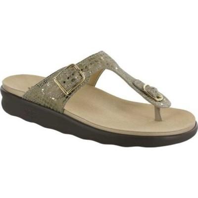 サス SAS レディース サンダル・ミュール シューズ・靴 Sanibel Sandal Olive Gold Leather