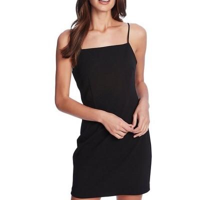 ワンステート レディース ワンピース トップス Square Neck Spaghetti Strap Bodycon Mini Dress