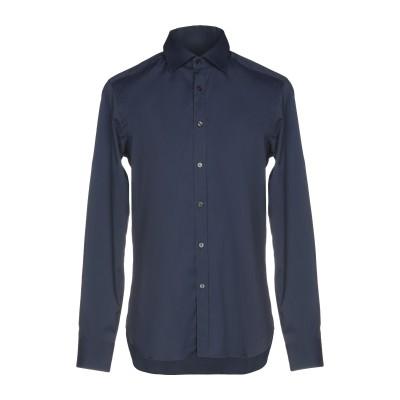 XACUS シャツ ブルー 38 コットン 72% / ナイロン 25% / ポリウレタン 3% シャツ