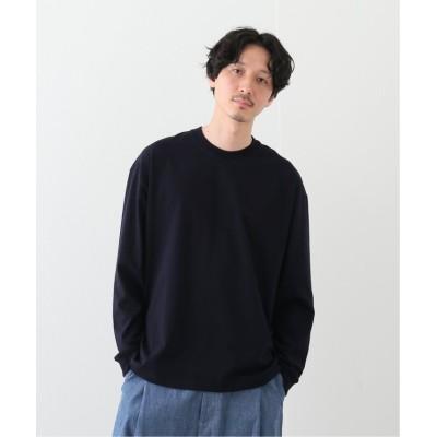 【エディフィス】 別注 TANGUIS L/S TEE SHIRTS メンズ ネイビー 3 EDIFICE