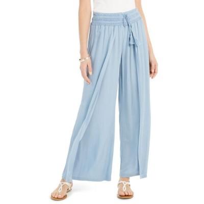 スタイルアンドコー レディース カジュアルパンツ ボトムス Textured Tie-Waist Wide-Leg Pants