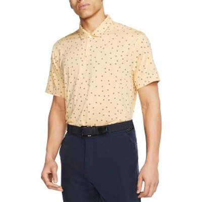 ナイキ メンズ シャツ トップス Nike Men's Dri-FIT Vapor Rose Print Golf Polo Celestial Gold