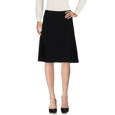 アルマーニ コレッツィオーニ ARMANI COLLEZIONI ひざ丈スカート ブラック 42 ポリエステル 100% ひざ丈スカート