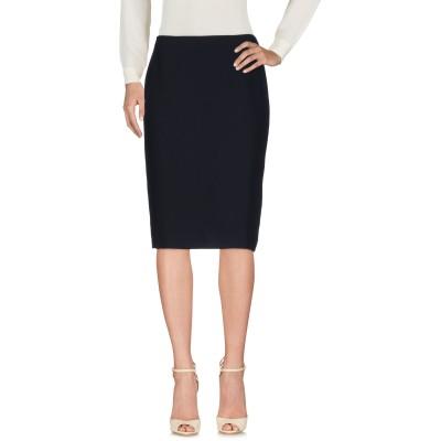 SORGENTE ひざ丈スカート ダークブルー 42 ポリエステル 100% ひざ丈スカート