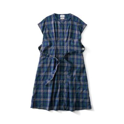 feat. Shuttle Notes 半巾帯付きチェックドレス〈レディース〉 サニークラウズ フェリシモ FELISSIMO