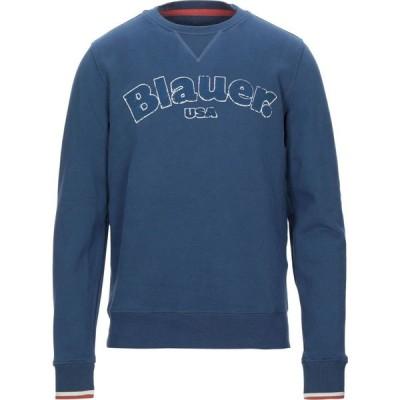 ブラウアー BLAUER メンズ スウェット・トレーナー トップス sweatshirt Azure