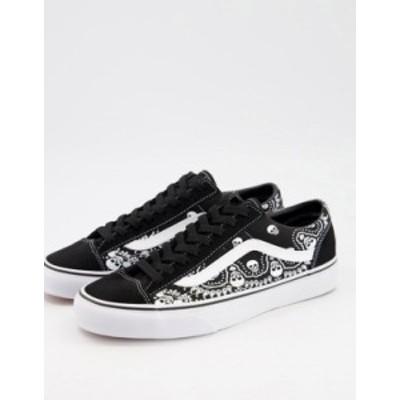 バンズ メンズ スニーカー シューズ Vans 36 Style Bandana sneakers in black Bandana black/true white