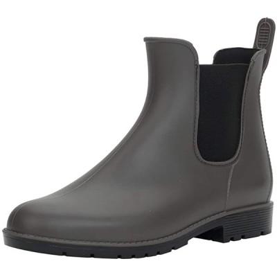 [DimaiGlobal] レインシューズ レディース メンズ レインブーツ 雨靴 サイドゴア 晴雨兼用 防水ショートブーツ 無地 台風 梅雨対策(2