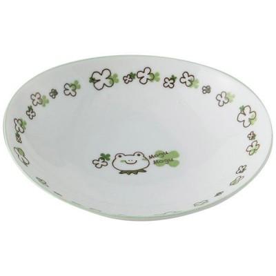 アサヒコウヨウ 子供カレー・パスタ皿 もぐもぐ かえる KD311-GR グリーン