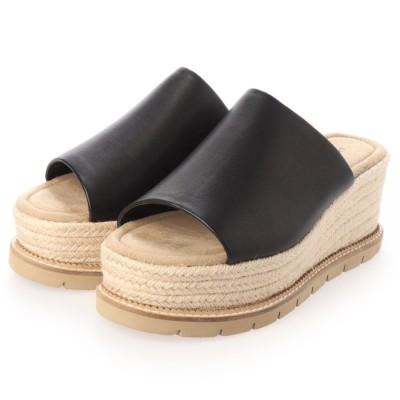 ジルスチュアート シュー JILLSTUART shoe プラットフォームミュールサンダル (ブラック)