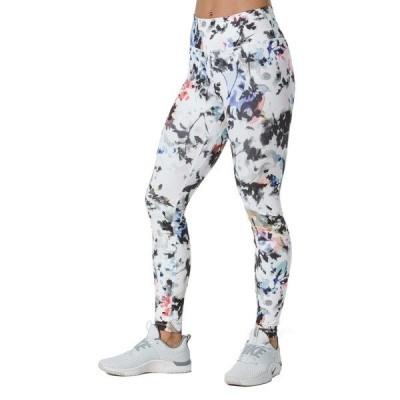 ナイキ カジュアルパンツ ボトムス レディース Nike One Women's Printed Washed Floral Tights White/Gunsmoke