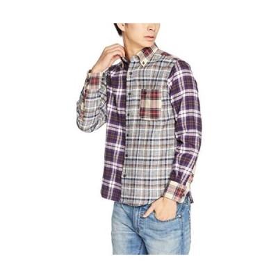 (マックレガー) McGREGOR ペルヴィアン三つ杢チェック&ストライプシャツ (その他11 L)
