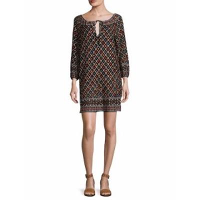 アリス+オリビア レディース ワンピース Gillian Embroidered Blouson Shift Dress