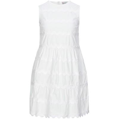 レッド ヴァレンティノ REDValentino ミニワンピース&ドレス ホワイト 36 コットン 100% ミニワンピース&ドレス