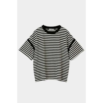 COTTON SLUB JERSEY Tシャツ BLK