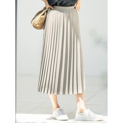 【大きいサイズ】スムースプリーツツイル スカート 大きいサイズ スカート レディース