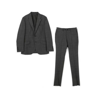 【メンズビギ】 シャドーチェック スーツ メンズ グレー 02(M) Men's Bigi