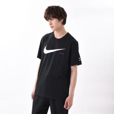 【NIKEウェア】 ナイキウェア M スウッシュ ハイブリッド S/S Tシャツ CK2253-010 010BLACK/WHITE L ブラック