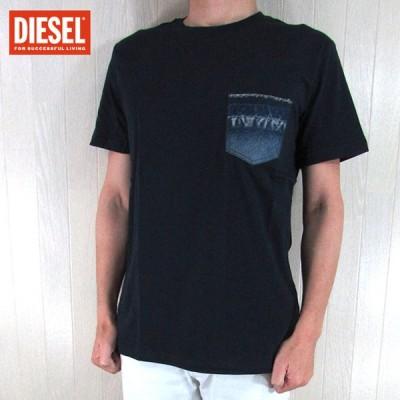 ディーゼル DIESEL メンズ Tシャツ 半袖 カットソー T-BASCON-ROUND/81E/ネイビー サイズ:S/M/L/XL/XXL/3XL