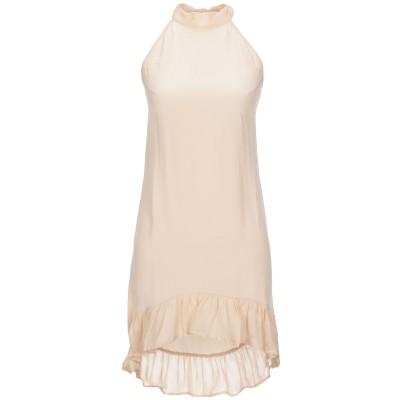 MIA CASHMERE ミニワンピース&ドレス ベージュ L シルク 100% ミニワンピース&ドレス