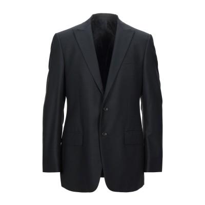 VERSACE テーラードジャケット ブラック 52 ウール 55% / シルク 43% / ポリウレタン 2% テーラードジャケット