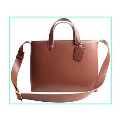 Dom Teporna Full Grain Italian Leather Handle Tote Bag Shoulder Bag for Women Designed in Japan, Darkbrown, free並行輸入品