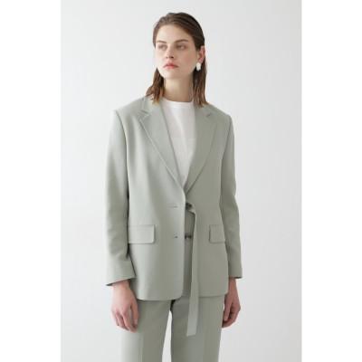◆C2重織セットアップジャケット 薄グリーン1