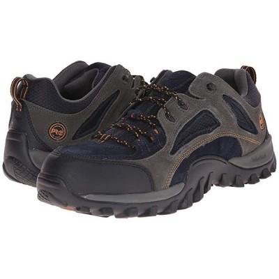 ティンバーランド Mudsill Low Steel Toe メンズ スニーカー 靴 シューズ Titanium/Sapphire Leather With Mesh