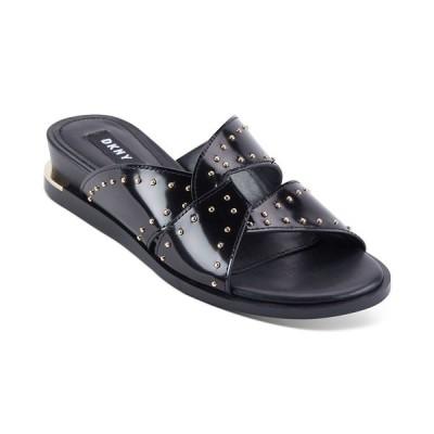 ダナ キャラン ニューヨーク サンダル シューズ レディース Women's Della Flat Sandals Black