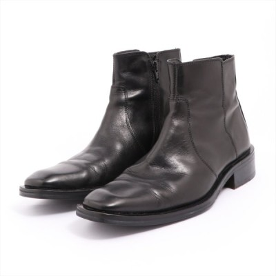 ケネスコール レザー ブーツ 8 メンズ ブラック ハーフラバー